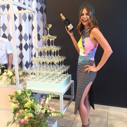 Jesinta Campbell Champagne Tower